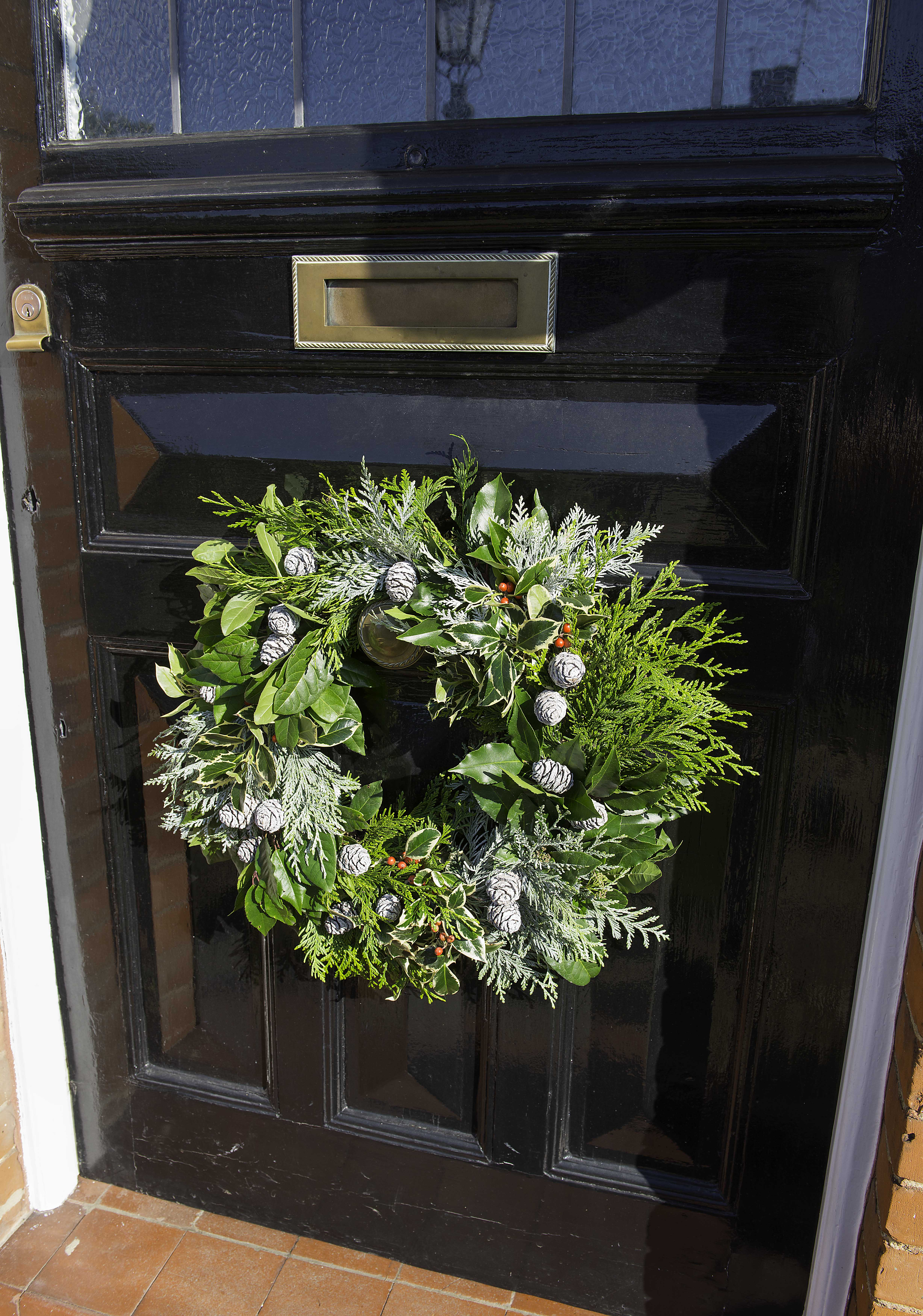 Sue Arran Xmas door wreath