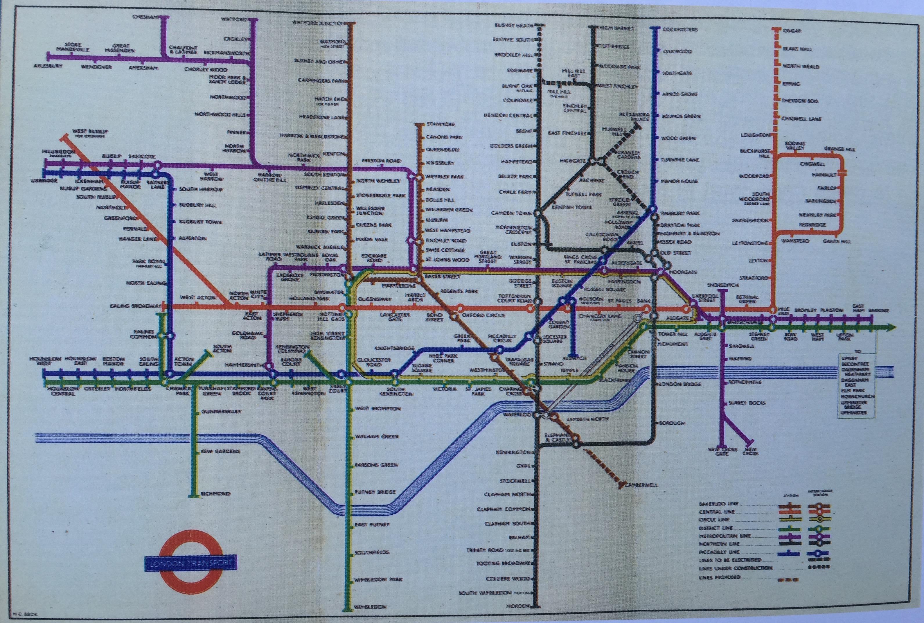Tube map 1949