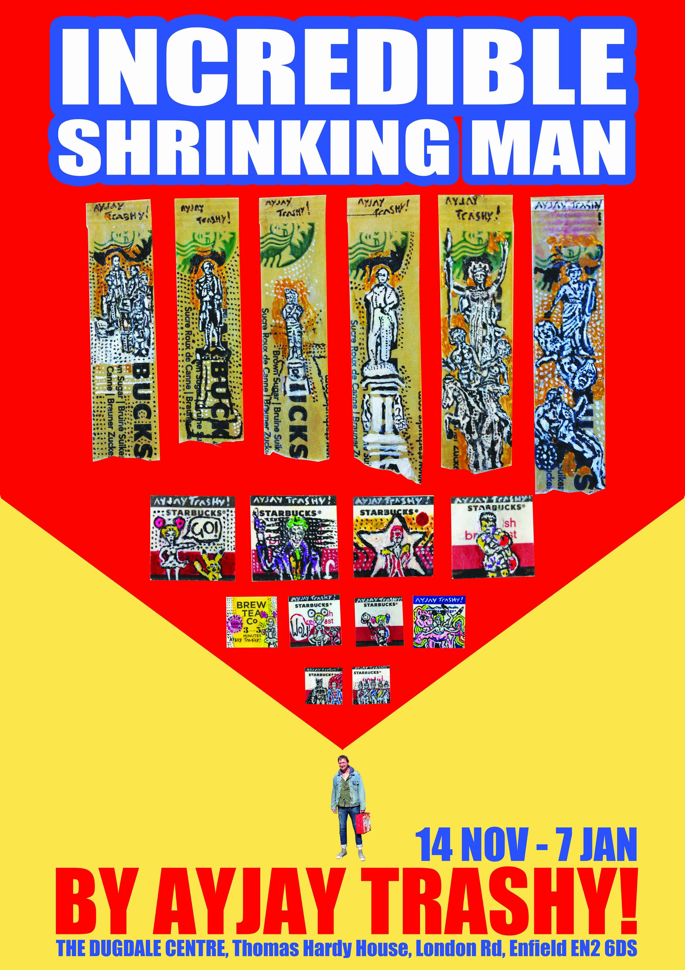 http://www.highlivingbarnet.com/wp-content/uploads/2016/11/AyJayTrashy-Poster.jpg Incredible Shrinking Man Poster